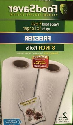 "FoodSaver Brand rolls 8"" X 20' - 2 PACK"