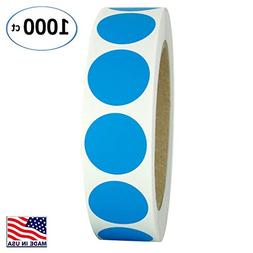 """1"""" Bright Blue Round Color Coding Circle Dot Labels on a Rol"""