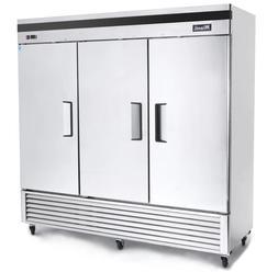 Migali C-3FB Commercial Three Door Freezer Reach In 72Cu.Ft.