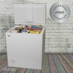 Chest Deep Freezer Upright Compact Storage Home White 5.0 cu