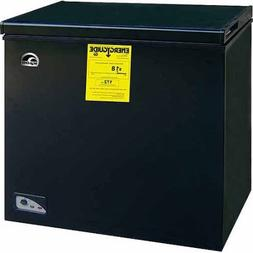 Igloo 5.1 cu ft Chest Freezer 240 volts, Black,Freezing temp
