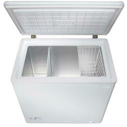 Chest Freezer in White Mini Fridge 5.5 cu. ft. Rollers Stora