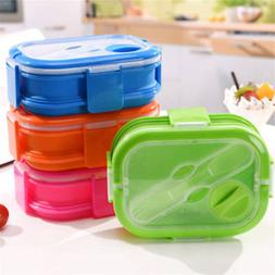 Collapsible Silicone Lunch Box Bento Food Saver Container fo