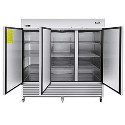 Commercial 3 Door Upright Refrigerators - KITMA Side by Side