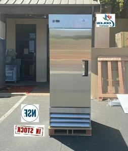commercial reach in one single door upright