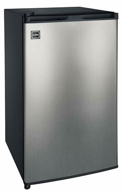 compact fridge mini refrigerator stainless steel 3 2 cu ft f