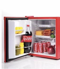 Compact Retro Coca Cola Fridge & Internal Freezer Office Dor