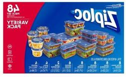 ZIPLOC Containers 48Pc Plastic Variety Pack Containers Lids
