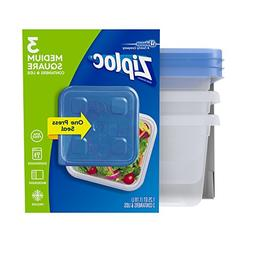 Ziploc Containers, Medium Square, 3 ea