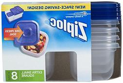 Ziploc Containers, Extra Small Square, 8 ea
