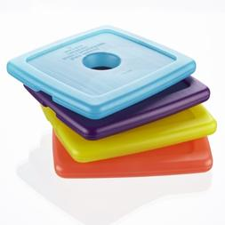 Fit & Fresh Cool Coolers Reusable Ice Packs, Multicolored, 4