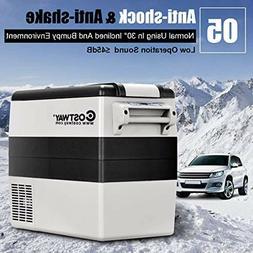 Costway 54 Quart Portable Refrigerator/Freezer Compact Vehic