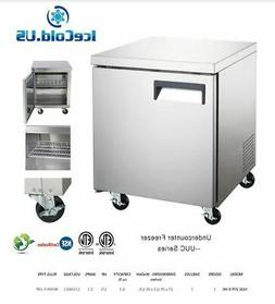 counter work top commercial under counter freezer