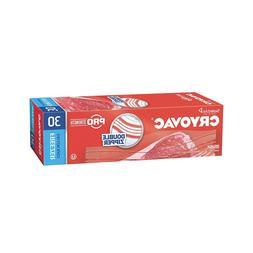 Diversey Cryovac Resealable Double Zipper Gallon Freezer Bag