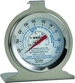 Winco Dial Refrigerator/Freezer Thermometer with Hook and Pa
