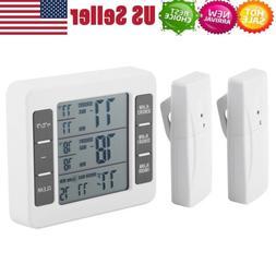 Digital Refrigerator Freezer Thermometer Alarm High Low Temp