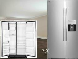 Stainless Steel Refrigerator Double Door Fridge Ice Dispense