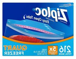Ziploc® Double Zipper Freezer Bags - Quart - 4/54 ct.