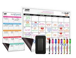 dry erase magnetic monthly calendar