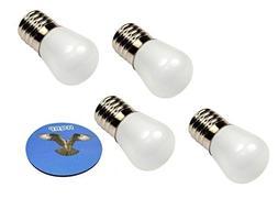 HQRP 4-Pack 110V E17 Base LED Bulbs for Freezer/Fridge / Ref