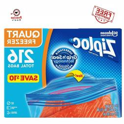 Ziploc Easy Open Tabs Freezer Quart Bags Heavy Duty  **Free
