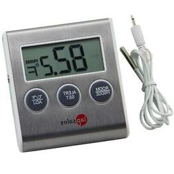 Easy to Read Refrigerator Freezer Thermometer Alarm, High &