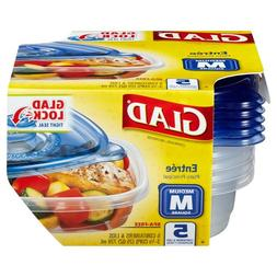 GladWare Entree Containers with Lids, 5-Containers