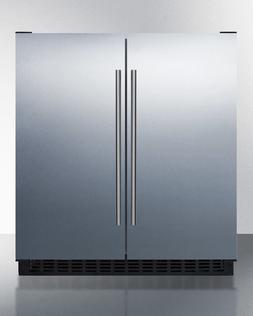 """Summit FFRF3075WCSS 30"""" French Door Refrigerator Freezer All"""
