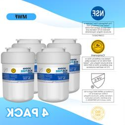 4 Pack Fits GE MWF  Refrigerator Water Filter Replacement Fo