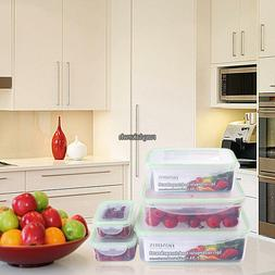 Food Meat Storage Sets Containers Fresh Microwave Freezer Bo