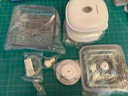 """Food savers accessories   8""""x8"""" w/lid,  6.5""""x6.5"""" w/lids, 1"""