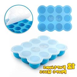 Baby Food Storage Container, Baby Food Freezer Silicone Tray