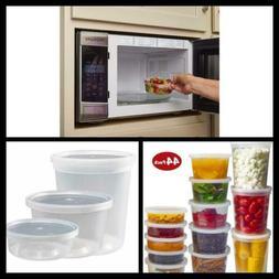 DuraHome Food Storage Containers with Lids 8oz, 16oz, 32oz F