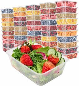 Food Storage Containers Plastic w/ Lids Meal Prep Plastic De