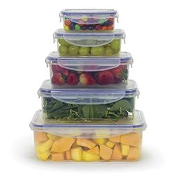 Food Storage Containers w/Locking Lids, Microwave Safe and B