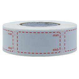 Hybsk 1 x 2 Inch Food Storage Labels Freezer & Refrigerator