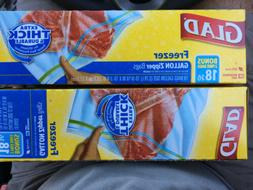 Glad Freezer Bags Gallon Size 18 Ct Thick & Durable BPA Free
