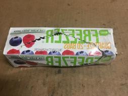Smart Sense Freezer Bags w/ Click n' Lock Double Zipper Quar
