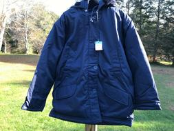 freezer jacket cold weather quilted hood xl
