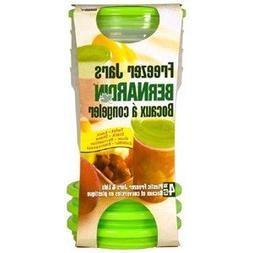 Bernardin 4 pack Freezer Jars/lids - Plastic - 16 oz