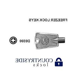 Freezer Key Cross Pattern National D8590 2 Pack