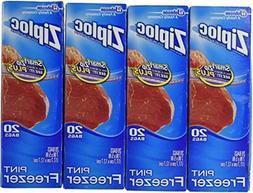 Ziploc Freezer Bags - Pint, 80 Count