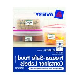 Avery Freezer-Safe Food Container Labels, 1.25 x 1.75-Inches