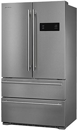 """Smeg 36"""" French Door Counter-Depth Refrigerator with Automat"""