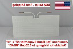 """Fridge Freezer Roll Bond Aluminium Evaporator 20x10""""  1/4"""" t"""