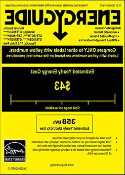 GE GTE18GTHWW 17.5 Cu. Ft. White Top Freezer Refrigerator -