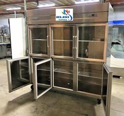 glass door refrigerator freezer combo rg46 6