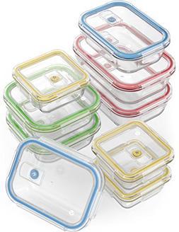 Vremi 18 Piece Glass Food Storage Containers with Locking Li