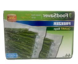 FoodSaver Heat Seal Quart Vacuum Seal Bags 44 count quart si