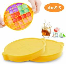 Ice Cube Trays, Silicone Ice Cube Molds with Lid, Ice Trays